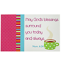 One Numbers 6:24 Share Your Faith Card #PIO1009