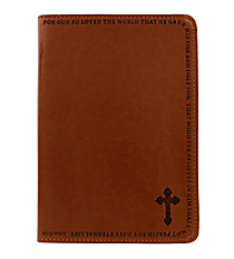 John 3:16 Tan LuxLeather Flexcover Journal #JL098