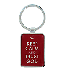 Keep Calm and Trust God Keyring #KEP017