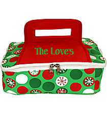 Snowflake Dots Square Insulated Casserole Tote #80910