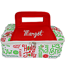 Christmas Words Square Insulated Casserole Tote #80910
