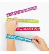 6 Bright Snowflake Prismatic Slap Bracelets #4/4998
