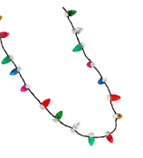 Lotsa Lites Flashing Holiday Necklace #X-FLHB