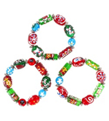 One Christmas Candy Art Stretch Bracelet #X-CCBR-SHIPS ASSORTED