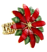 Poinsettia Stretch Ring #POINT-RNG