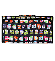 Black Hootie-Hoo Large Roll Up Jewelry Bag #CJ-402