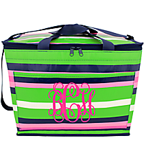Pink, Green, and Navy Social Climber Big Chill Tote #CL-BC-000377