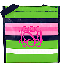 Pink, Green, and Navy Social Climber Power Lunch Tote #CL-PL-032170