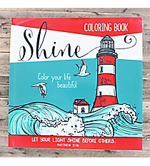 'Shine' Adult Coloring Book #CLR003