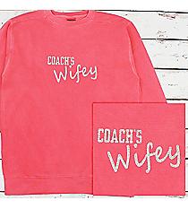 Coach's Wifey Comfort Colors Adult Crew-Neck Sweatshirt #1566 *Choose Your Colors
