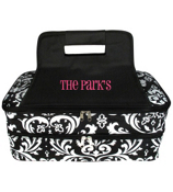 Damask Insulated Double Casserole Tote #DMSK391-BLACK