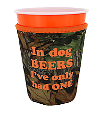 "Mossy Oak® and Orange Trim ""Dog Beers"" Cup Cozy #CCOZ-MOO-DOG"