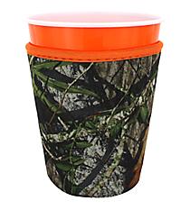 Mossy Oak and Orange Trim Cup Cozy #CCOZ-MOO