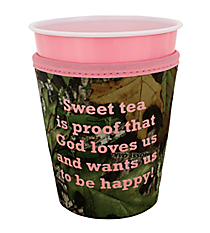 "Mossy Oak® and Pink Trim ""Sweet Tea"" Cup Cozy #CCOZ-MOP-TEA"