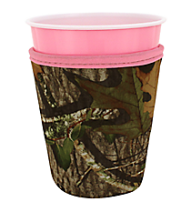 Mossy Oak® and Pink Trim Cup Cozy #CCOZ-MOP