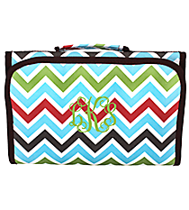 Multi-Color Chevron Clear-View Roll Up Cosmetic Bag #CB18-1323