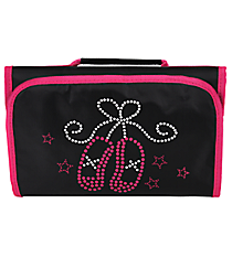 Ballet Slippers Clear-View Roll Up Cosmetic Bag #CB18-907