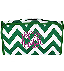Green Chevron Roll Up Cosmetic Bag #CB25-601-G