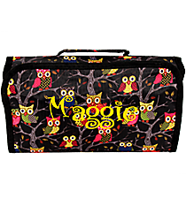 Bright Eyed Owls Roll Up Cosmetic Bag #CB25-901 Cosmetic Bag #CB25-901-P