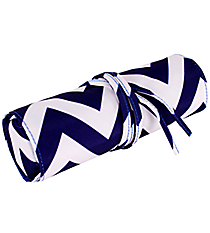 "Blue Chevron 8"" Travel Cosmetic Bag #HY008-601-BL"