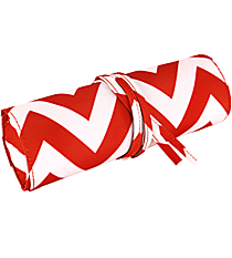 "Red Chevron 8"" Travel Cosmetic Bag #HY008-601-R"
