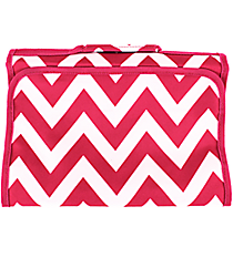Pink Chevron Small Roll Up Jewelry Bag #J-601-P