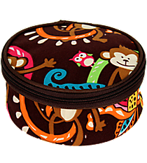 "6"" Monkey Island Round Case #MON583-BROWN"
