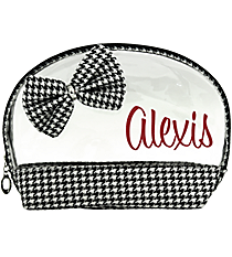 Houndstooth 2-Piece Cosmetic Bag Set #1870-HT