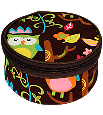 "6"" Owl Give a Hoot Round Case #WQL583-BROWN"
