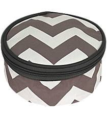 "6"" Gray Chevron with Gray Trim Round Case #ZIG583-GRAY"