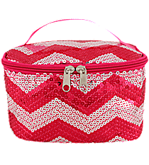 Hot Pink Sequined Chevron Case #ZIQ277-H/PINK
