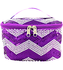 Purple Sequined Chevron Case #ZIQ277-PURPLE
