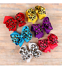 One Leopard Print Hair Clippy #CPR9722-SHIPS ASSORTED
