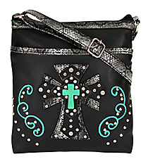 Black Western Cross Crossbody Bag #504W3CCR-BLK