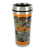 Mossy Oak Obsession with Orange Trim Stainless Steel Travel Mug #MUG-MOO