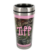 Mossy Oak Obsession with Pink Trim Stainless Steel Travel Mug #MUG-MOP
