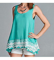 Raised on Lace Tank, Mint #D1172 *Choose Your Size