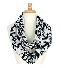 Black Anchor Infinity Scarf #DAT589-BLACK
