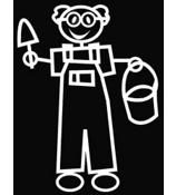Grandpa Gardener Vinyl Car Decal #SF27