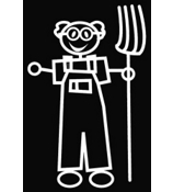 Grandpa Farmer Vinyl Car Decal #SF28