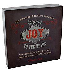 "6.25"" x 6.25"" Psalm 19:8 Wall/Tabletop Decor #WBL001"