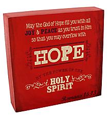 "6.25"" x 6.25"" Romans 15:13 Wall/Tabletop Decor #WBL002"