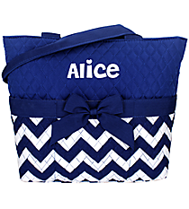 Royal Blue Chevron Quilted Diaper Bag #ZCM2121-ROY/BL