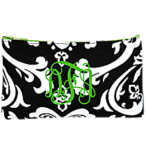 Damask 3-Piece Nesting Cosmetic Set #DMSK229-LIME