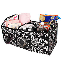 Damask Utility Storage Tote with Insulated Bag #DMSK516-BK