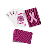 One Pack of Sassy Pink Ribbon Playing Cards #12/4617