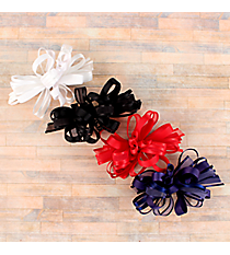 One Solid and Sheer Gameday Hair Clippy #DPN1053SY-SHIPS ASSORTED