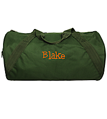 Forest Green Barrel-Sided Duffle Bag #8805-21-FOREST