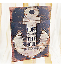 Rustic Hebrews 6:19 Anchor Sign #DSEA0053