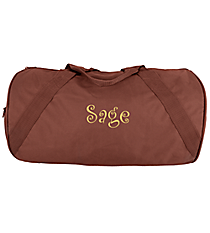 "18"" Brown Barrel-Sided Duffle Bag #8805 BROWN"